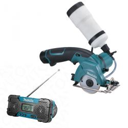 Пила дисковая акумуляторная  MAKITA CC300DW 85 мм 10,8В + радио Makita MR051